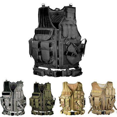 Tactical Vest SWAT Police Military Airsoft Hunting Combat Assault Field outdoor