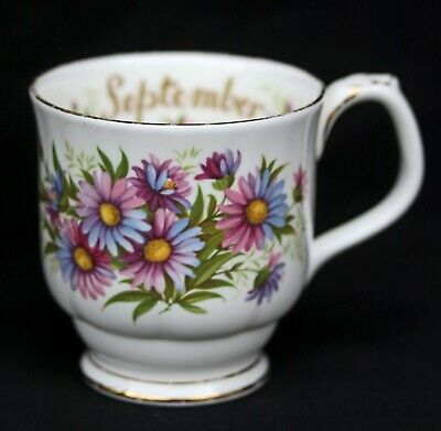 "Royal Albert Flower Of The Month Mug September #B779 ""Michaelmas Daisy""  England"