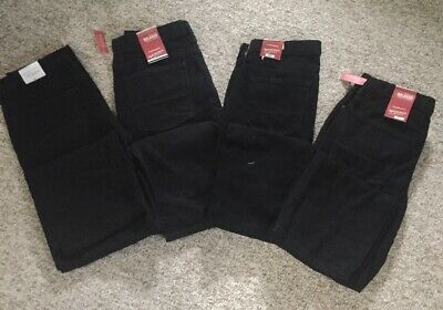 4 Brand New Pairs of Black Arizona Jeans Boys Size 14 Husky Relaxed