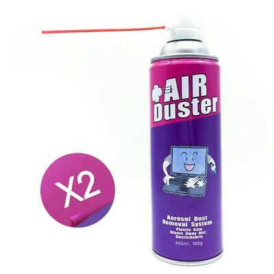 2 x Electronic Dust Cleaner Air Duster Can Computer PCs Laptop Keyboard Cameras
