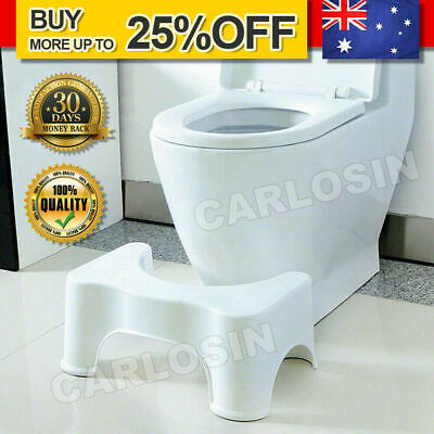 7'' Sit and Squat Potty Stool Portable Squatty ECO Healthy Colon White Toilet