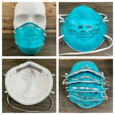 5 x 3M Particulate Respirator Surgical Medical Healthcare Mask N95 1860 Regular