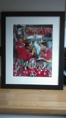 """LIVERPOOL F.C.-2005 CHAMPIONS LEAGUE WINNERS FRAMED PICTURE 18 1/2"""" w x 22 1/2""""h"""