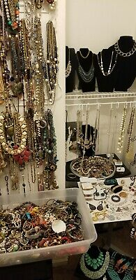 All wearable jewelry lot  pounds  Vintage to Now small flat Rate Box FULL