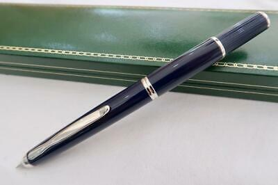 NEW, NAMIKI PILOT FERMO VANISHING POINT, CAPLESS FOUNTAIN PEN IN BLUE 18ct FINE
