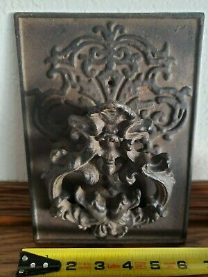 Large Amazing Vintage Antique Cast Iron Door Knocker New Old Stock Never Used