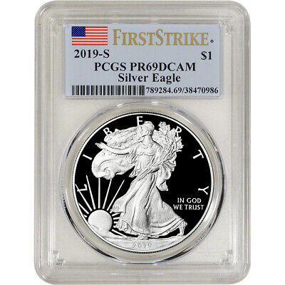 2019-S American Silver Eagle Proof - PCGS PR69 DCAM First Strike