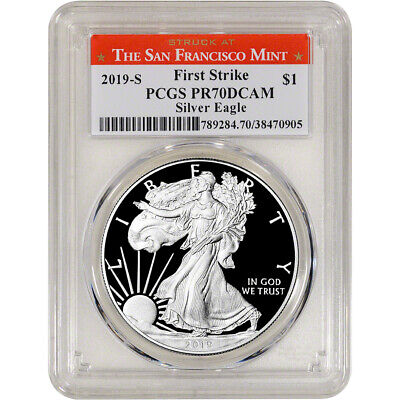 2019-S American Silver Eagle Proof - PCGS PR70 DCAM First Strike SF Label