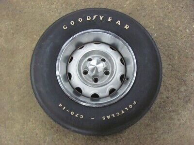 Original 74 75 Charger Road Runner Rally Wheel with Goodyear Polyglas Tire 14X6