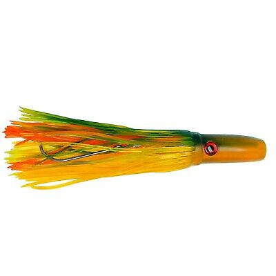 """PARROT 10/"""" RIGGED PUSHER HEAD TROLLING LURE TEASER TUNA MARLIN BIG GAME"""