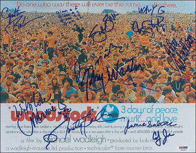 Woodstock - Autographed Signed Photograph With Co-Signers