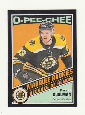 2019-20 O-Pee-Chee Karson Kuhlman Black Border Parallel RC # /100 (19-20) OPC BB