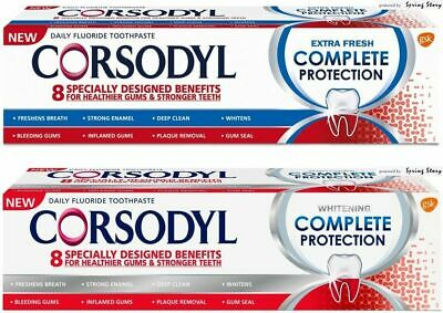 Corsodyl COMPLETE PROTECTION Whitening Toothpaste For Gum Bleeding,Inflame,Seal