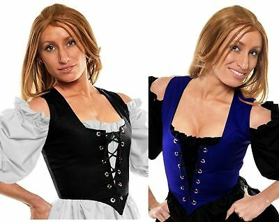 Renaissance Dress-Up Belle Halloween Costume Medieval Corset Wench Bodice #Rl1X
