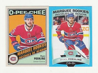 2019-20 O-Pee-Chee Ryan Poehling Retro & Blue Parallel RC Lot (19-20) OPC # 504