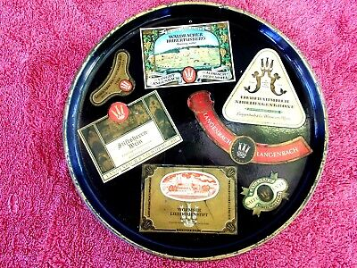 VINTAGE  LANGENBACH  ADVERTISING  RESIN  SERVING  TRAY  MADE IN GERMANY   30cm.