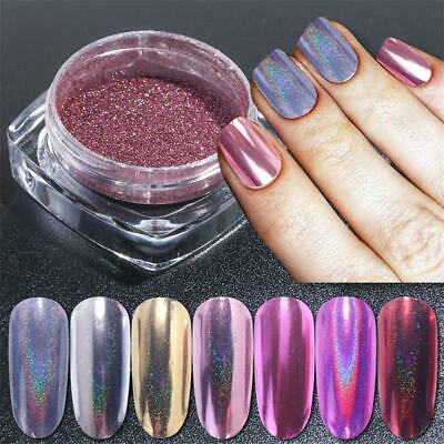 DIY Manicure Holographic Laser Dipping Pigment Nail Powder Nail Mirror Glitter