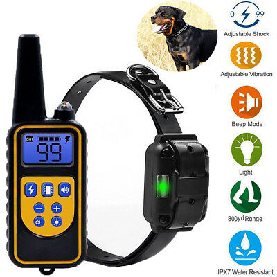 Dog Shock Collar With Remote Electric For Large 800 Yard Pet Training Waterproof
