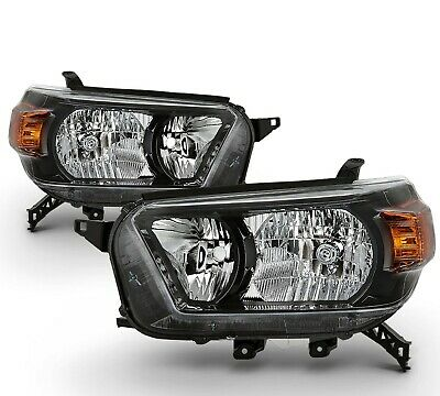 Fit 10-13 4Runner w/Trail Package Replacement Black Headlights Left + Right Side