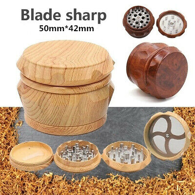 55mm Tobacco Crusher With 4 Layer Zinc Alloy Cutting Blades Herb Grinder Wood
