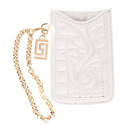 VERSACE Nappa Leather Mobile Phone Pouch / Sleeve iPhone 4 4s Made in Italy