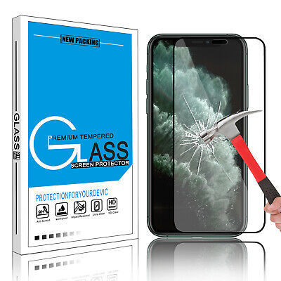 For iPhone 11 Pro Max 11 X/ XS Max XR Full Cover Tempered Glass Screen Protector