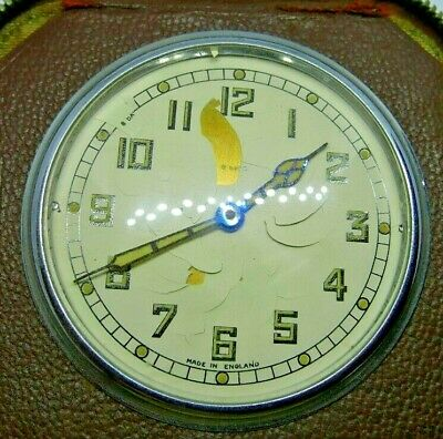 Vintage SMITHS Hand Winding Mechanical Travel Alarm Clock