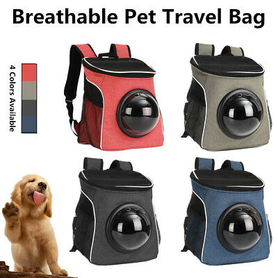 Breathable Pet Dog Cat Puppy Travel Shoulder Bag Backpack Astronaut Capsule Case