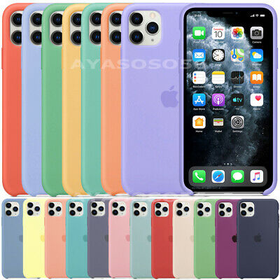 Originale Silicone Sottile Custodia Per Iphone 11 Pro Max Xs Xr X 7 8 Plus Case