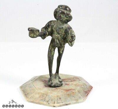 14th / 15th Century German Bronze Candlestick Figure