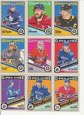 2019-20 O-Pee-Chee 600 Card Retro Set 50 RC Hughes, Poehling (19-20)OPC - Crosby