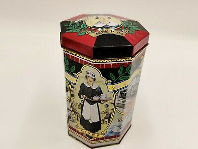 Vintage style kitsch Tin/Tea Caddy-Lyons and Co featuring Nippy Waitress design