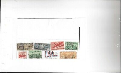 Leatherneckcq Stamps Airmail Mix  (8) Used ...See Scan For Condition