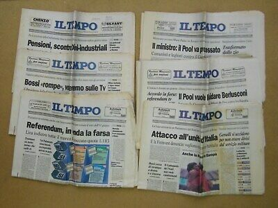 LOTTO QUOTIDIANI 1980-1981-1989-1990-1995 Bossi, Craxi, Referendum …