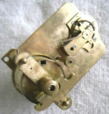 Vintage 1920-30s Japy Freres: Wind-up Mantel Clock Movement, Spares Or Repair.