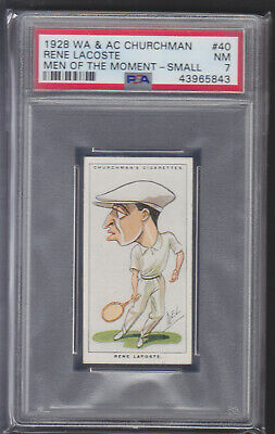 Churchman - Men Of The Moment In Sport 1928 - Rene Lacoste - Tennis - PSA 7 NM