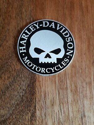 Harley Davidson willie g style skull bone Fuel tank Gas Cap Pad Sticker emblem