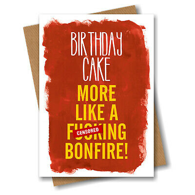 Birthday Card Funny Quirky Rude Offensive Adult Humour Friend Mate B42