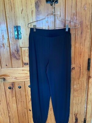 Lisa Rinna Collection Knit Cropped Jogger Pants Dark Sapphire  XXS NWOT A341719