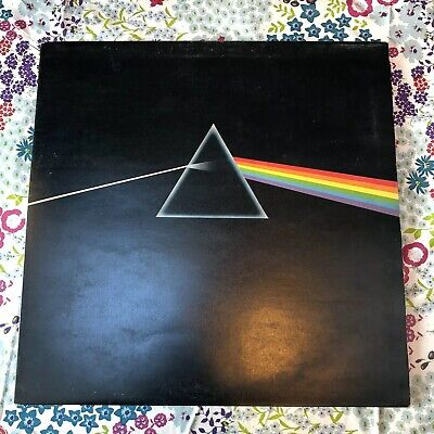 Pink Floyd Dark Side Of The Moon A2 B2 Solid Blue Triangle First Pressing Rare