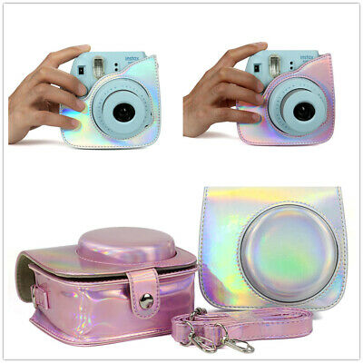 Holographic Leather Protective Case Compatible for Fujifilm Instax Mini 8 Mini 9