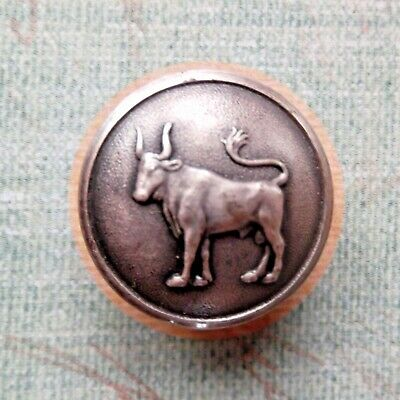 """Swedish Provincial Arms Bull Button Dalsland Sporrong silver plate 7/8"""" backmark"""