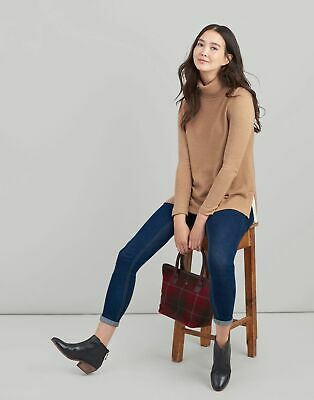 Joules Womens Mariah A Line Jumper in TAN Size 12