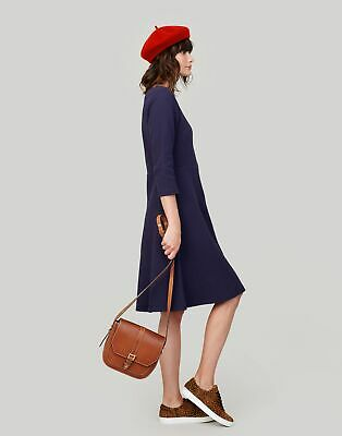 Joules Womens Shay Waisted Jersey Dress in FRENCH NAVY Size 18