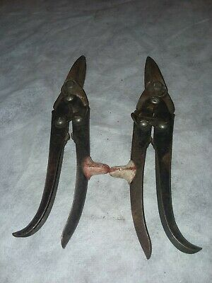Antique KLENK Tin Snips Right & Left Cuts