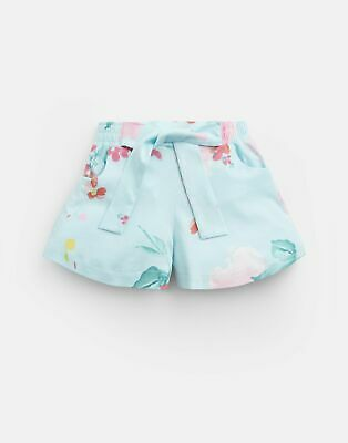 Joules Girls Gabby Jersey Printed Culottes 1 6 Yr in AQUA FLORAL Size 1yr