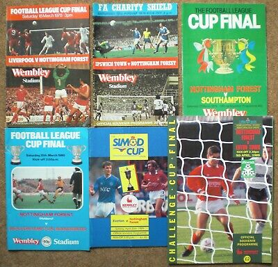 NOTTINGHAM FOREST FC WEMBLEY CUP FINALS PROGRAMMES COLLECTION Football Notts Lot