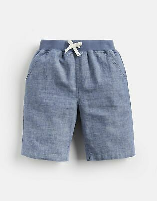 Joules Boys Huey Linen Mix Woven Short 1 12 Yr in CHAMBRAY Size 5yr