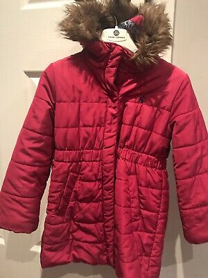 Joules girls pink coat age 5