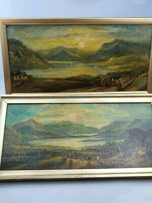 Fine Pair of 19th Century English School Oil on Board Paintings